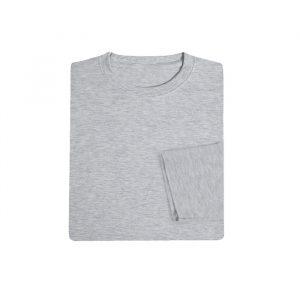 Cotton Long Sleeve Round Neck T-shirt