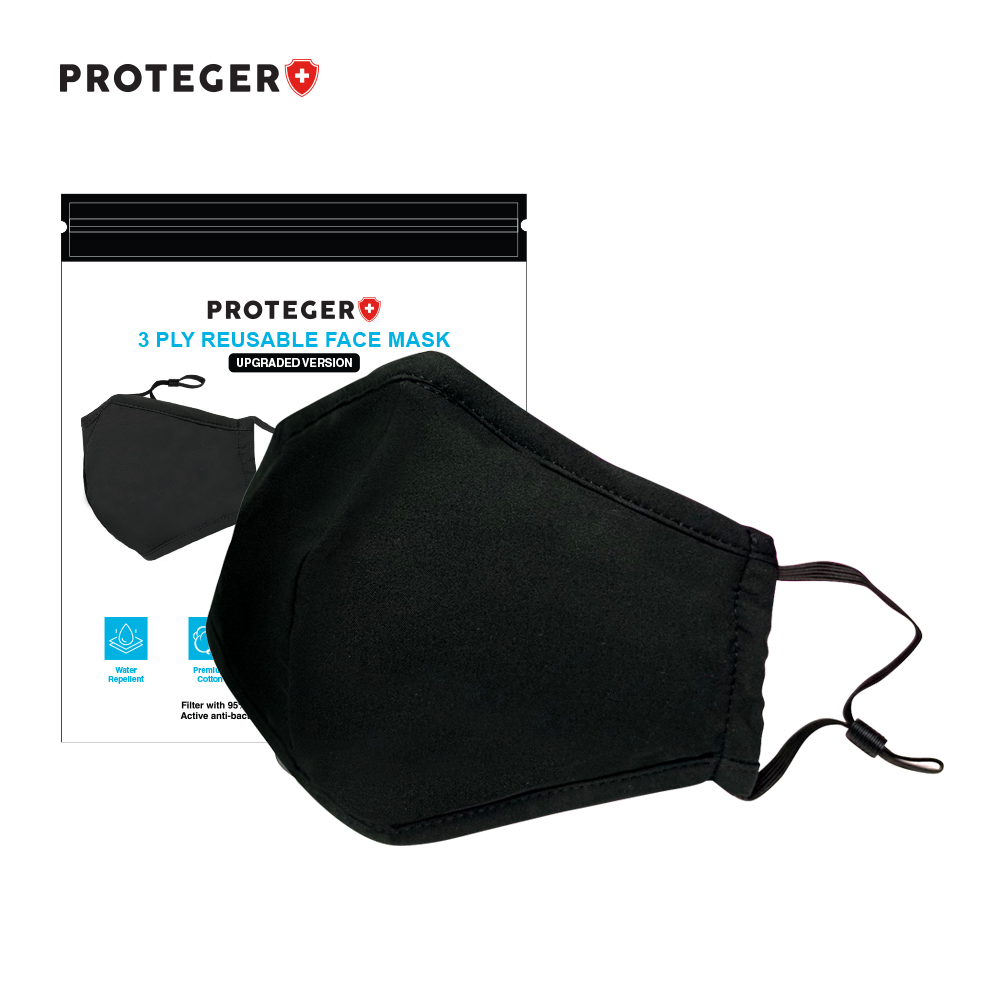 PROTEGER 3 PLY REUSABLE FACE MASK (ADULT)